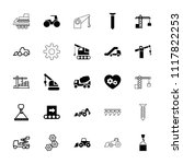 machinery icon. collection of... | Shutterstock .eps vector #1117822253