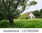 hofskirkja turf church in... | Shutterstock . vector #1117822544