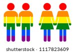 homosexual symbols. two men and ... | Shutterstock .eps vector #1117823609
