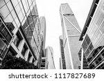 modern financial business... | Shutterstock . vector #1117827689