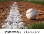 baseball on the infield chalk... | Shutterstock . vector #111783170