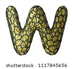 golden shining metallic 3d with ... | Shutterstock . vector #1117845656