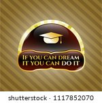 gold shiny emblem with... | Shutterstock .eps vector #1117852070