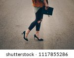 street style fashion details ... | Shutterstock . vector #1117855286