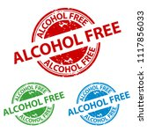rubber stamp seal   alcohol... | Shutterstock .eps vector #1117856033