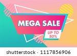 sale banner template in vibrant ...   Shutterstock .eps vector #1117856906