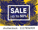 summer sale banner with exotic... | Shutterstock .eps vector #1117856909