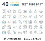 set of vector line icons  sign... | Shutterstock .eps vector #1117857506