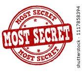 most secret grunge rubber stamp ...   Shutterstock .eps vector #1117858394