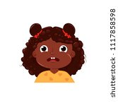 little girl cute is afraid.... | Shutterstock .eps vector #1117858598