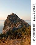 dawn on the black sea coast.... | Shutterstock . vector #1117864694