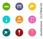 working procedure icons set.... | Shutterstock .eps vector #1117866110