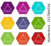 musical triangle icons 9 set... | Shutterstock .eps vector #1117866536