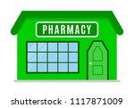 pharmacy. shop in a flat style. ... | Shutterstock .eps vector #1117871009