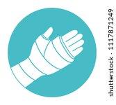 broken arm  bone fracture ...   Shutterstock .eps vector #1117871249