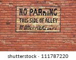 No Parking  Antique Sign...