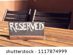 reserved table. the reserved... | Shutterstock . vector #1117874999