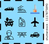 simple 9 icon set of travel... | Shutterstock .eps vector #1117875890