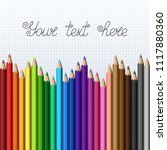 rainbow template of realistic... | Shutterstock .eps vector #1117880360