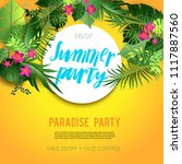 summer vibes party | Shutterstock .eps vector #1117887560