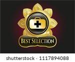 golden emblem or badge with... | Shutterstock .eps vector #1117894088