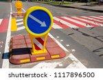 plastic car sign near a... | Shutterstock . vector #1117896500