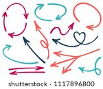 hand drawn diagram arrow icons... | Shutterstock .eps vector #1117896800