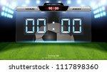 digital timing scoreboard ... | Shutterstock .eps vector #1117898360