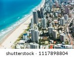 high angle view of beach and... | Shutterstock . vector #1117898804