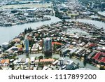 high angle view of river and... | Shutterstock . vector #1117899200