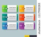 infographics design template 3d ... | Shutterstock .eps vector #1117900283