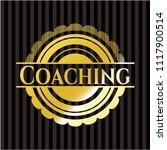 coaching golden emblem | Shutterstock .eps vector #1117900514