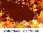 autumn leaves fall japanese... | Shutterstock .eps vector #1117903139