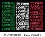 italian official flag flat... | Shutterstock .eps vector #1117906358