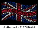 waving uk official flag on a... | Shutterstock . vector #1117907624