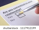 are you committed to your... | Shutterstock . vector #1117912199