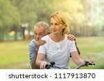 senior couple relax lifestyle... | Shutterstock . vector #1117913870