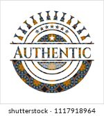 authentic arabic style badge....   Shutterstock .eps vector #1117918964