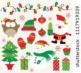 festive christmas icon... | Shutterstock .eps vector #1117919339