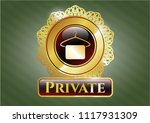 gold emblem with hanger with...   Shutterstock .eps vector #1117931309