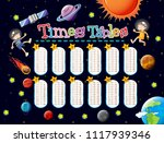 math times tables space scene... | Shutterstock .eps vector #1117939346