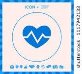 heart medical icon | Shutterstock .eps vector #1117942133