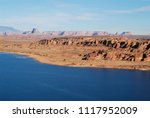 bright blue lake powel with...   Shutterstock . vector #1117952009