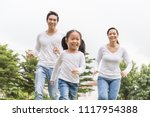 portrait of happy family mother ... | Shutterstock . vector #1117954388