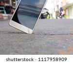 smartphones drop to the ground. ... | Shutterstock . vector #1117958909
