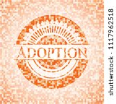 adoption abstract orange mosaic ... | Shutterstock .eps vector #1117962518