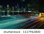 brooklyn promenade light trails  | Shutterstock . vector #1117962800