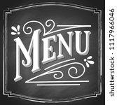menu hand lettering  chalk... | Shutterstock .eps vector #1117966046