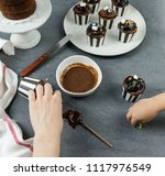 delicious homemade desserts  ... | Shutterstock . vector #1117976549
