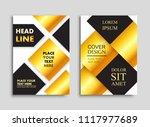 brochure layout in a4 size.... | Shutterstock .eps vector #1117977689